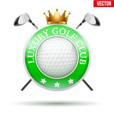 Label of Luxury Golf clubs Stock Photos