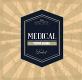 Label médical Image stock