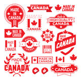 The label made ​​in Canada Royalty Free Stock Photo