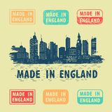 Label Made in England Royalty Free Stock Photos