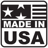 Label made in USA Stock Photography