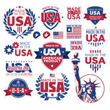 Label Made in the USA Royalty Free Stock Photos