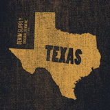 Label with map of texas. Vector illustration Royalty Free Stock Photography