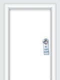 Label with message on door knob Stock Images