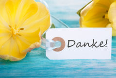 Label mit Danke Royalty Free Stock Photography