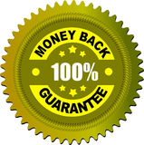Label money back guarantee Stock Photos