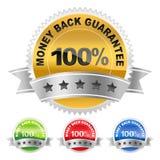 Label money back Stock Images