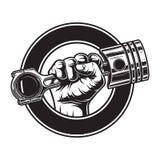 Label monochrome de moto de vintage illustration stock