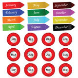 Label with the month art vector Stock Photo