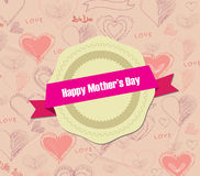 Label mother's Day Stock Photography