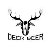 label négatif de vecteur de concept de l'espace de bière Images stock