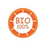 Label for natural juice. Fresh Juice, Bio , Sticker, Grapefruit,Orange, Organic,Natural Product 100 Vector Illustration