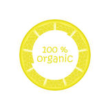 Label for natural juice. Fresh Juice, Bio , Sticker, Orange, lemon, Organic,Natural Product 100 Stock Illustration