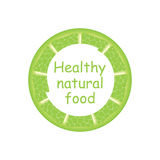 Label for natural juice. Fresh Juice. Organic natural product 100 Stock Illustration