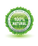 Label for natural products. On a white background Royalty Free Stock Photography