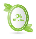Label for natural products. On a white background Stock Photo