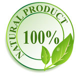 Label for natural products. Stock Images