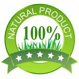 Label for natural products. Royalty Free Stock Photography