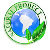 Label for natural products. Vector illustration. Royalty Free Stock Image