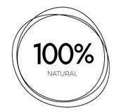 label naturel de 100 pour cent illustration libre de droits