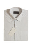 Label of new's men shirt Royalty Free Stock Image