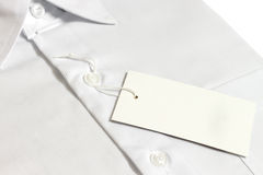 Label of new's  shirt Royalty Free Stock Image