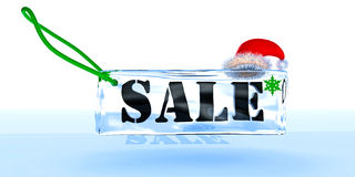 Label about New Year's sale Stock Image