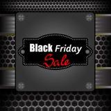 Label noir de vendredi Images libres de droits