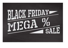 Label noir de vendredi Image libre de droits