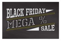 Label noir de vendredi Images stock