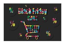 Label noir de vendredi Photographie stock