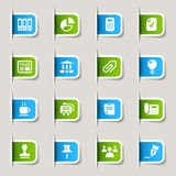 Label - Office and Business icons. 16 office and business icons set Stock Photography