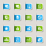 Label - Office and Business icons. 16 office and business icons set Royalty Free Stock Photos