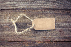 Label on old wood background. Stock Photography