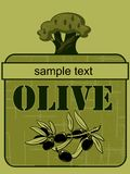 Label olive  2 Stock Photos