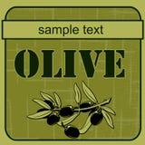Label olive 3 Stock Image