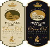 Label for olive oil Made in Italy Stock Photography