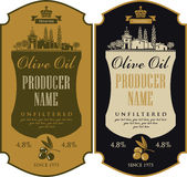 Label for olive oil royalty free illustration
