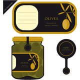 Label for olives Stock Images