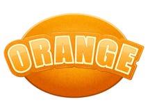 Label for orange juice or fruits. Bright premium Stock Photo