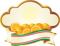 Label for Oranges Royalty Free Stock Photo