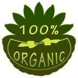 Label organique de 100% Photographie stock