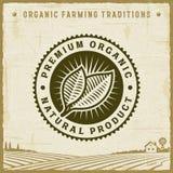 Label organique de la meilleure qualité de produit naturel de vintage illustration libre de droits