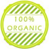 label organique de 100 pour cent Photographie stock libre de droits