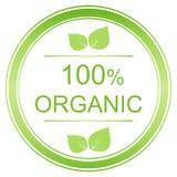label organique de 100 pour cent Image libre de droits