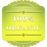 label organique de 100 pour cent Image stock