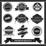 Label original avec le noir Images stock