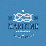 Label ou logo de vecteur de Retro Navy Trading Company Photo libre de droits