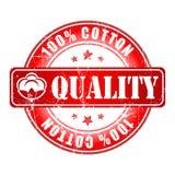 Label 100% ou timbre de coton de qualité Image stock