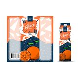 Label packaging juice orange. Design Stock Illustration